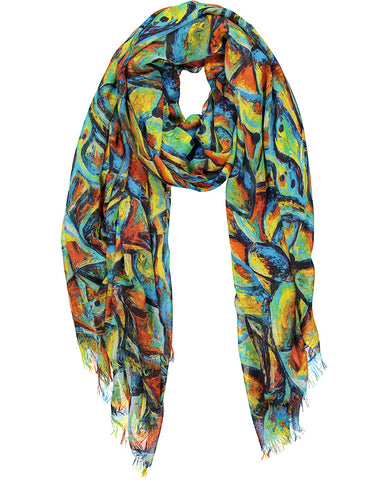 Birds of Paradise Cashmere Scarf