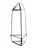 "Tall Triangular Obelisk Geometric Glass Terrarium 11""H"