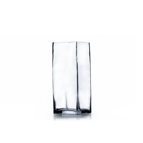 "3"" x 6"" Clear Square Block Vase (Set of 4) - BV0306"