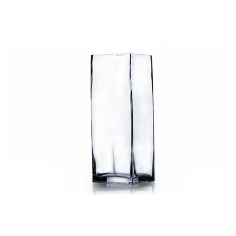 "3"" x 8"" Clear Square Block Vase (Set of 6) - BV0308"