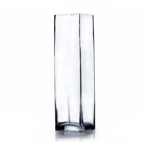 "3"" x 12"" Clear Square Block Vase (Set of 4) - BV0312"