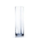 "3"" x 14"" Clear Square Block Vase (Set of 4) - BV0314"