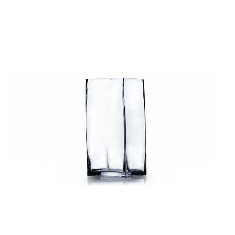 "4"" x 8"" Clear Square Block Vase (Set of 3) - BV0408"