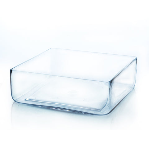 "12"" x 4""  Clear Square Block Vase - BV1204"