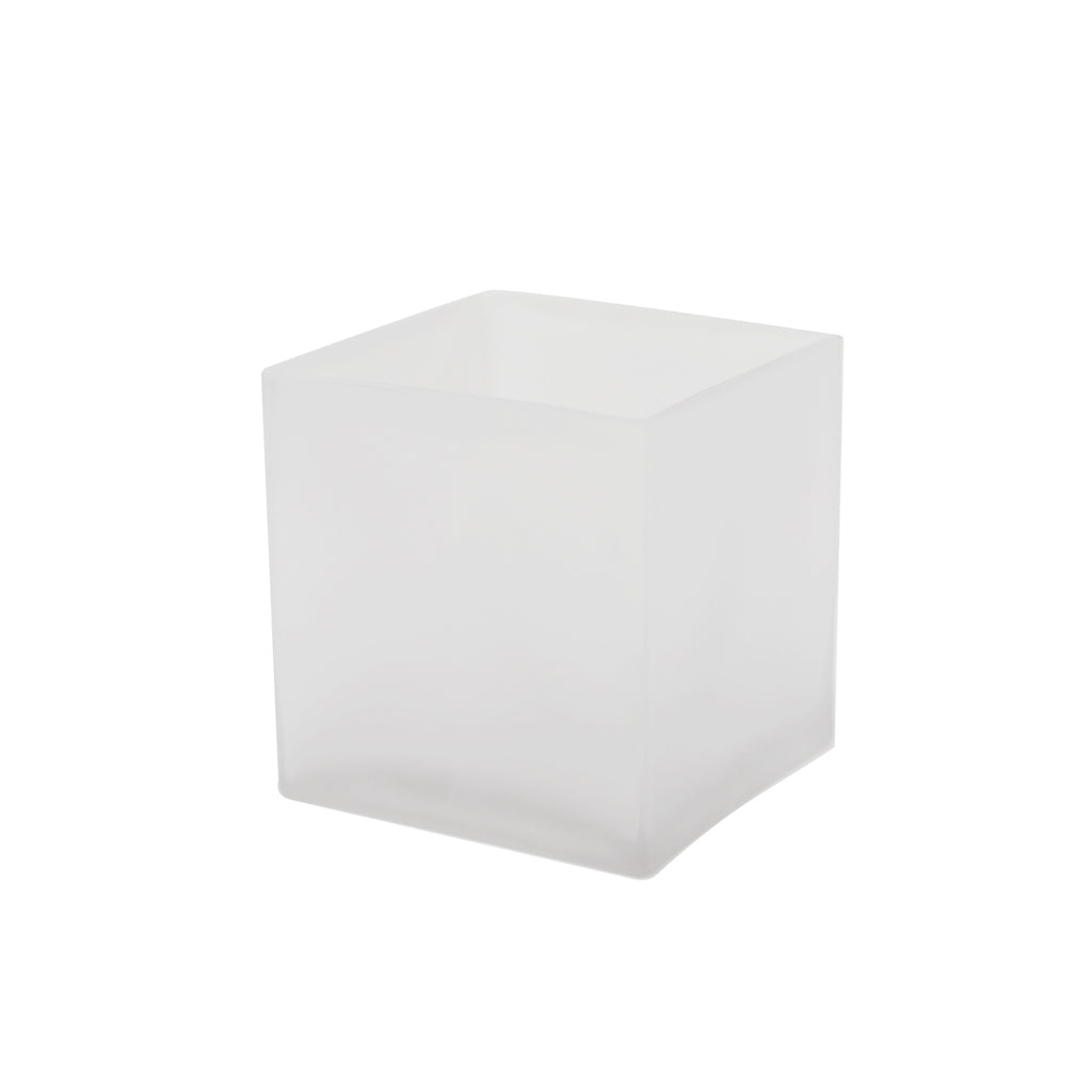 "4"" Frosted Cube Vase (Set of 4) - CB0004FR"