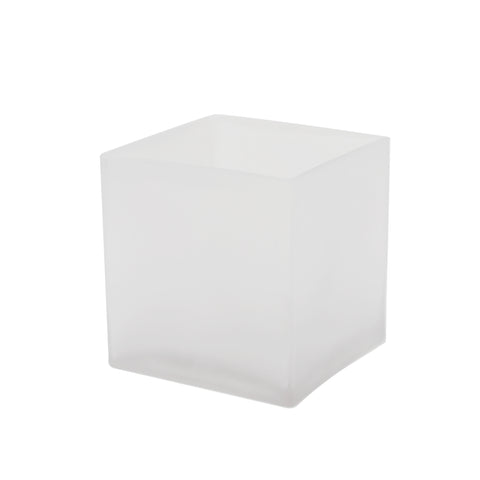 "5"" Frosted Cube Vase (Set of 3) - CB0005FR"