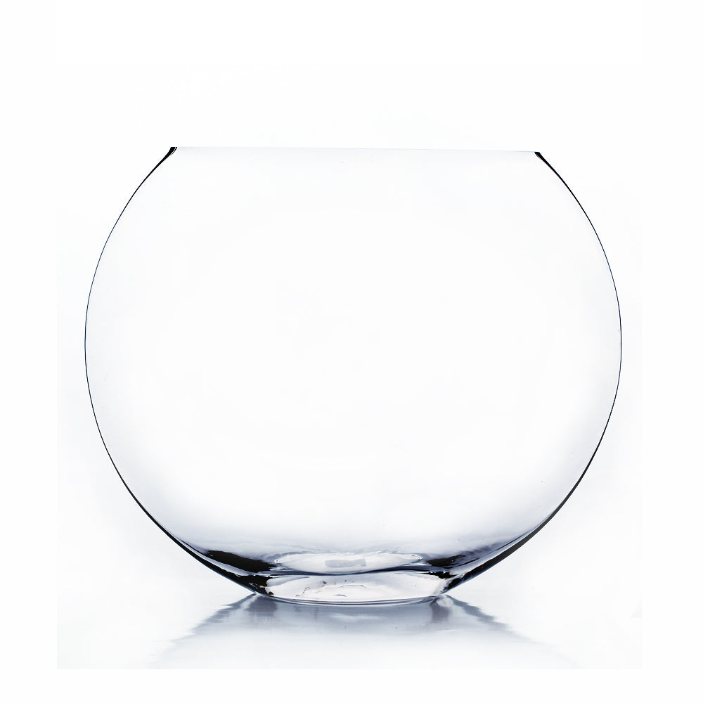 "10"" Clear Moon Vase - MV1010"