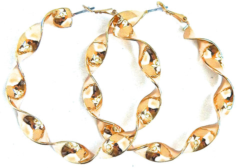 Twisted Twist Hoops
