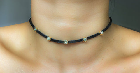 Diamond Line Up Choker