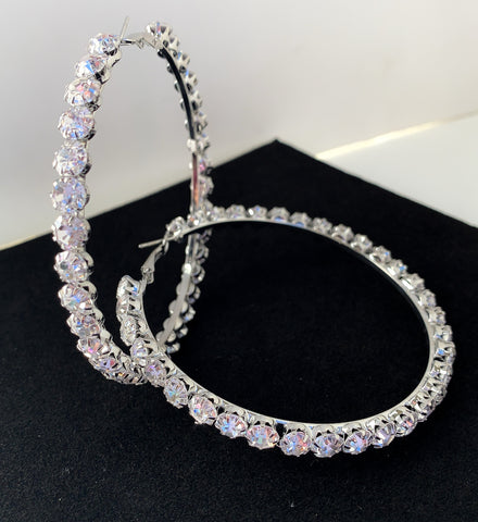 Bigger Diamond Hoops