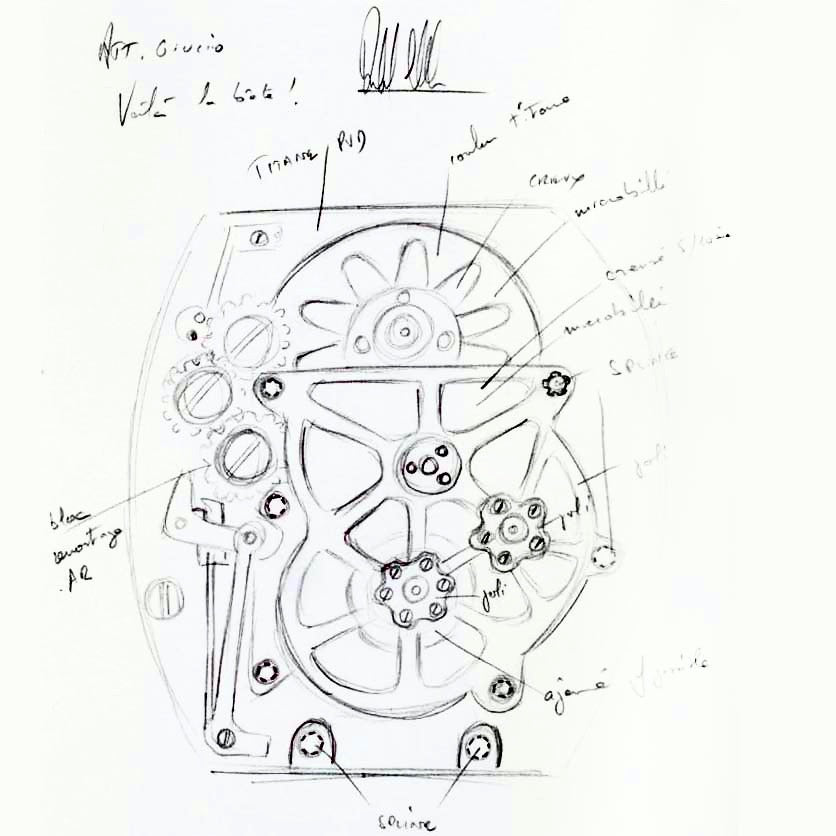 Richard Mille movement design Giulio Papi