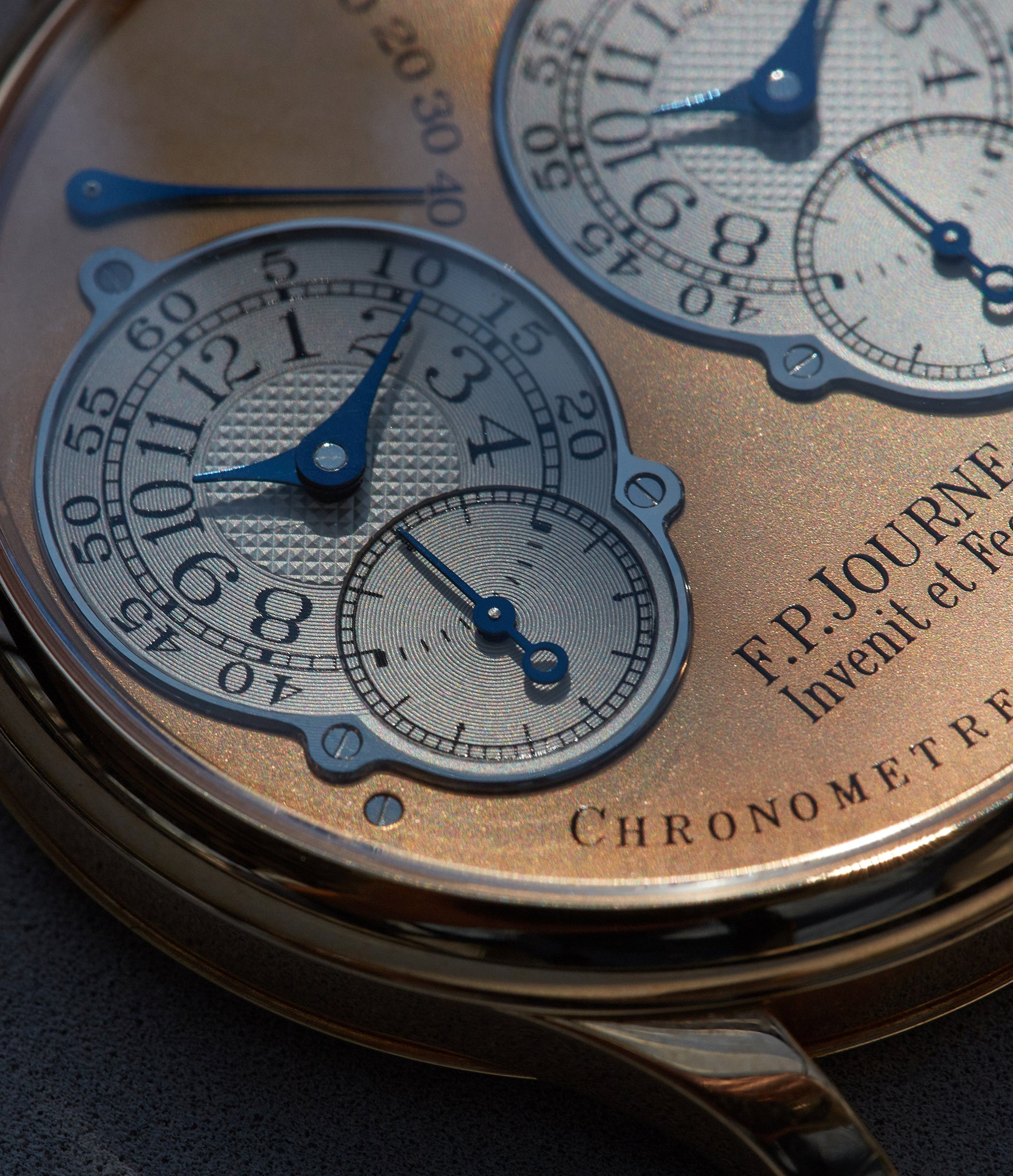 AN early F.P. Journe Resonance shot for A Collected Man London