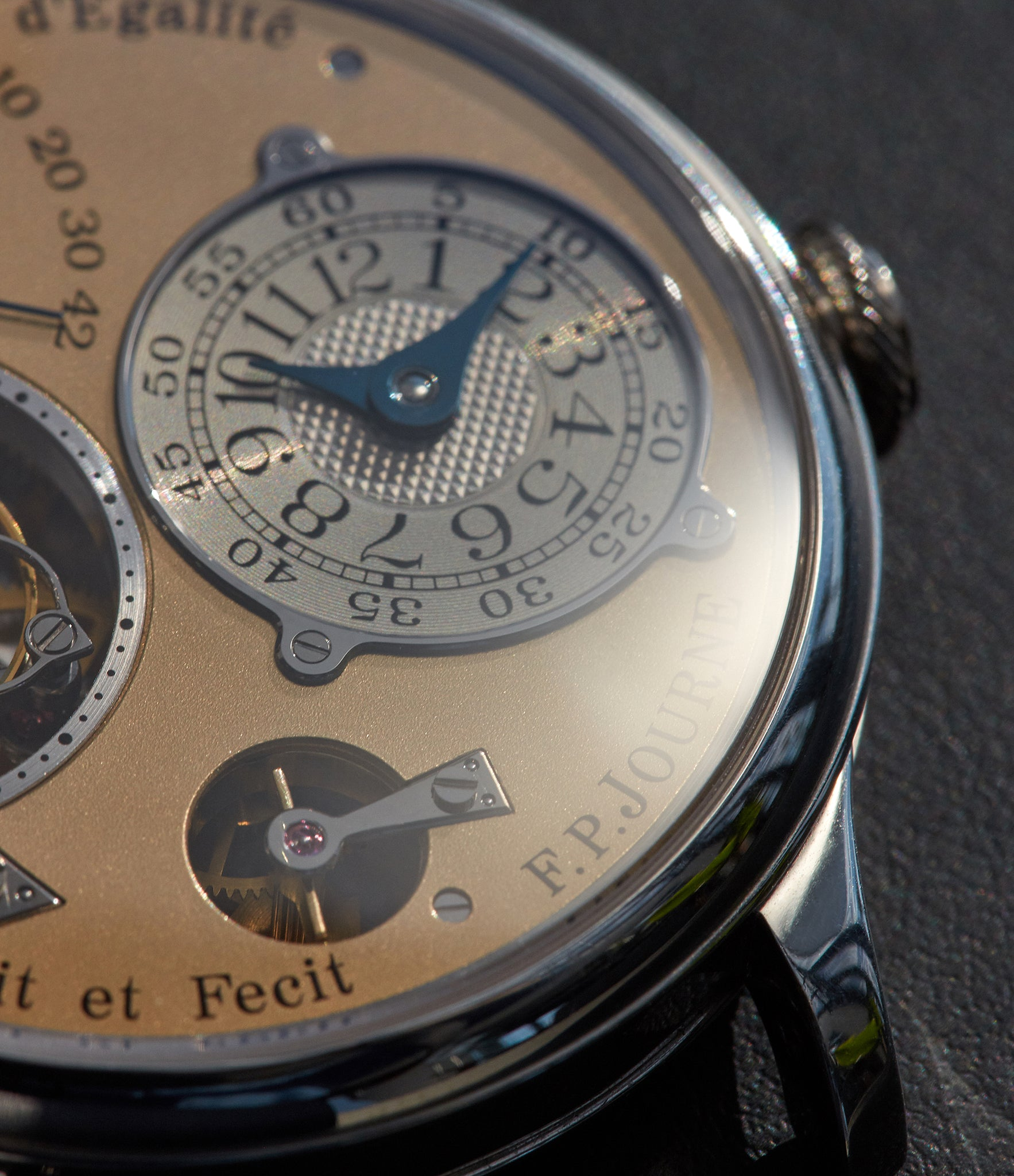 F.P. Journe Tourbillon Souverain fourth generation details shot by A Collected Man London