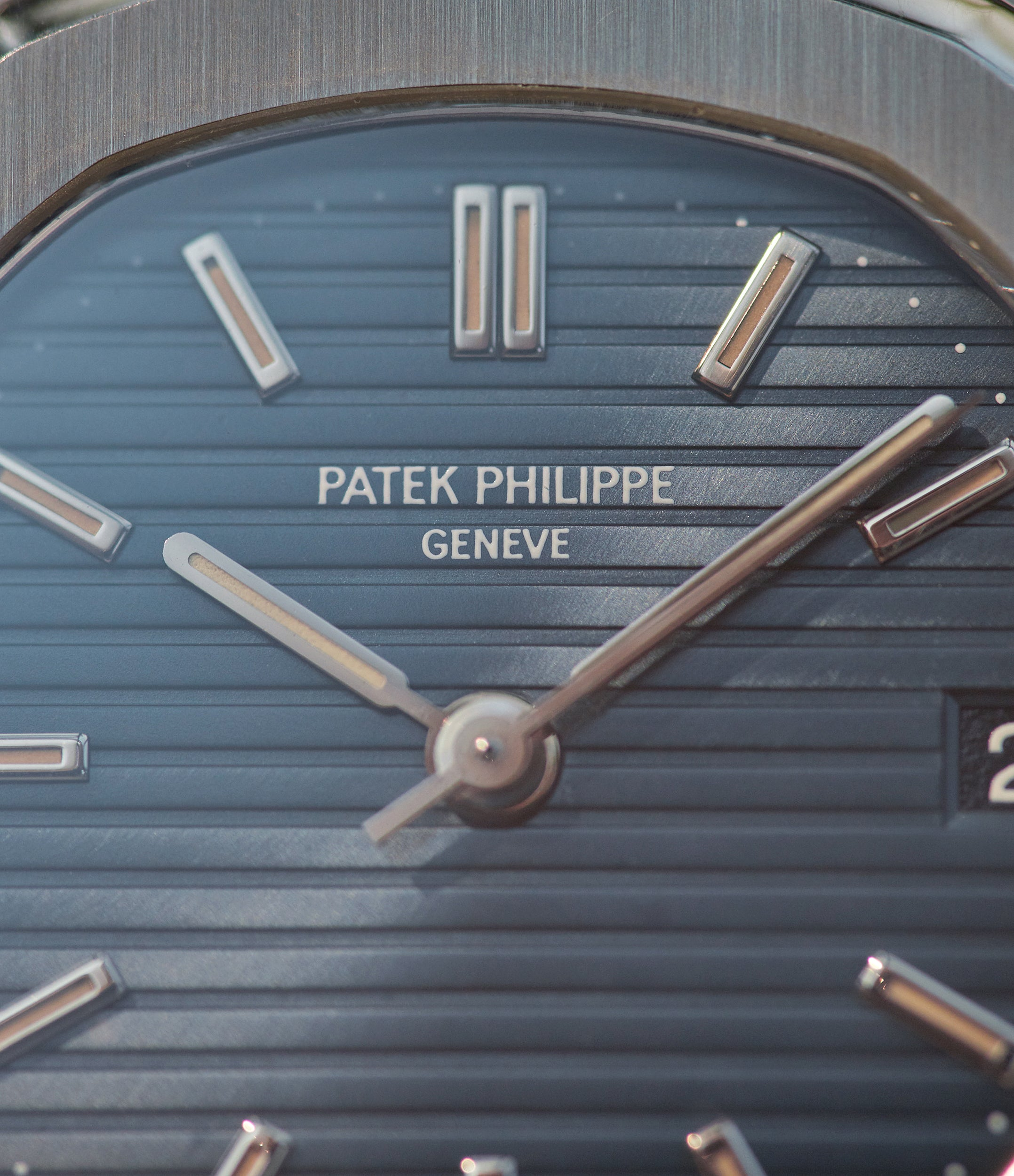 Patek Philippe Nautilus 3800 stainless steel blue dial with bold font from A Collected Man London