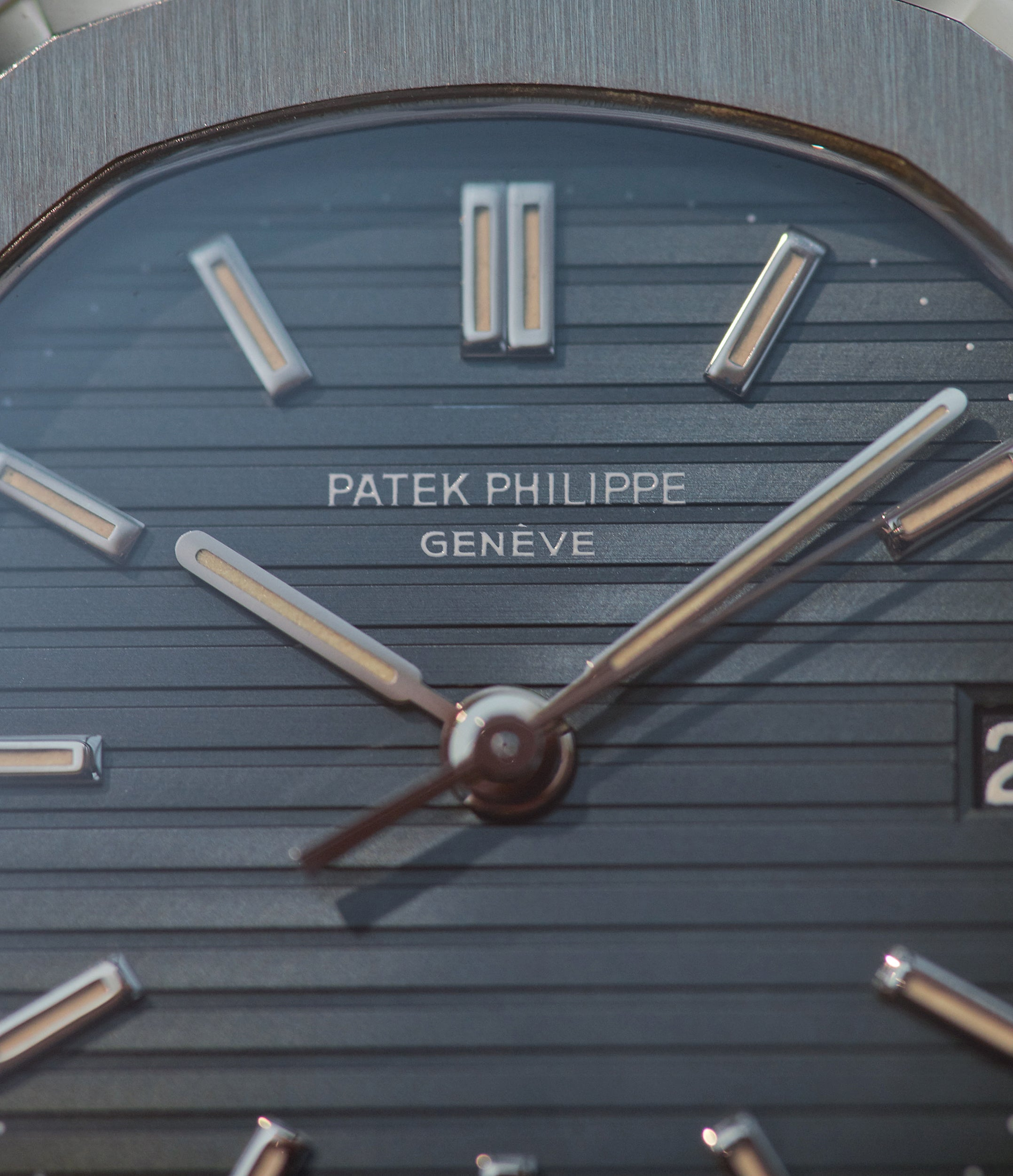 Patek Philippe Nautilus 3800 in stainless steel with thin font from A Collected Man London