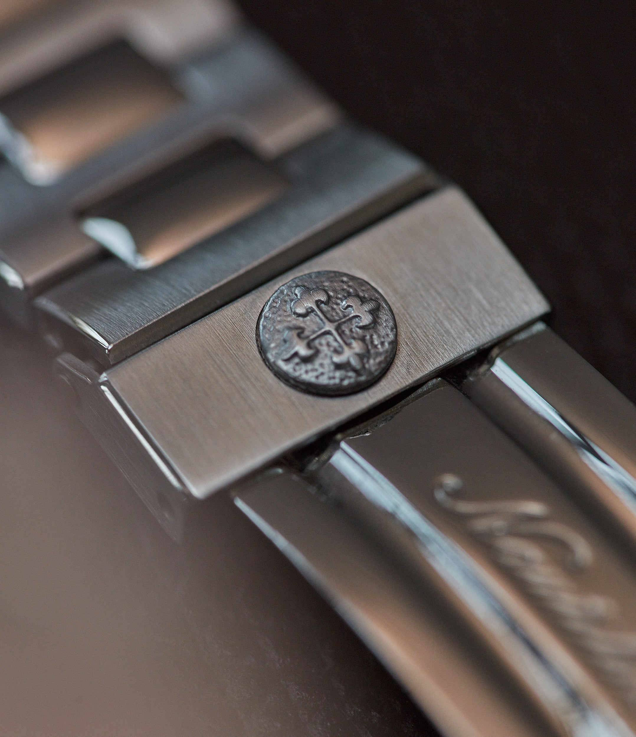 Patek Philippe Nautilus 3800 buckle saftey clasp in stainless steel from A Collected Man London