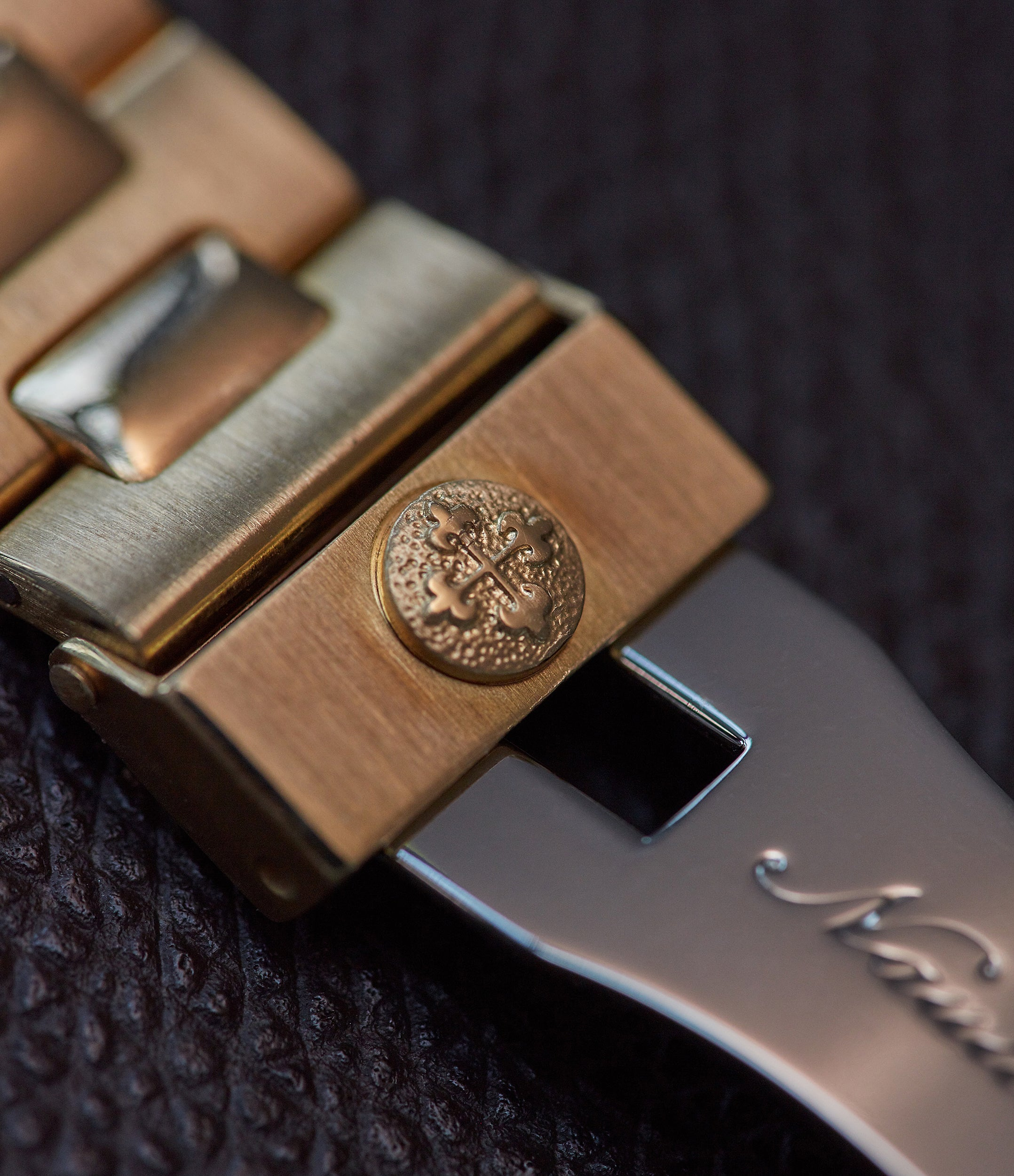 Patek Philippe Nautilus 3800 buckle saftey clasp in yellow gold from A Collected Man London