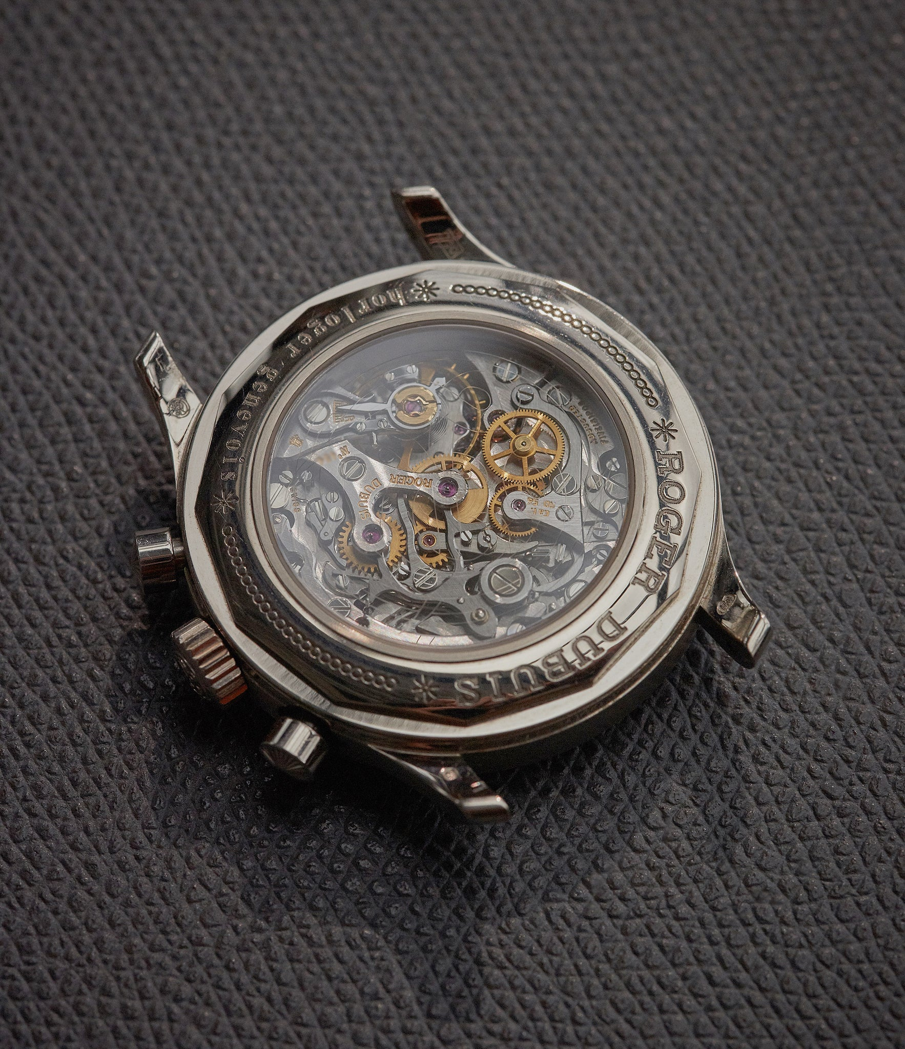 Movement of a Roger Dubuis Hommage Chronograph at A Collected Man London