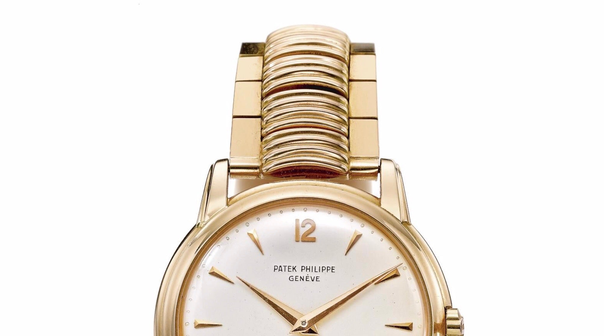Patek Philippe wristwatch in rose gold with an Ponti Gennari bracelet attached to it for A Collected Man London
