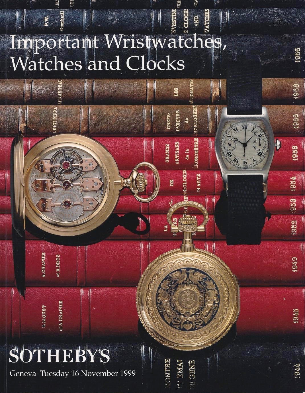 Sotheby's Important wristwatches, watches and clocks auction catalogues for A Collected Man London