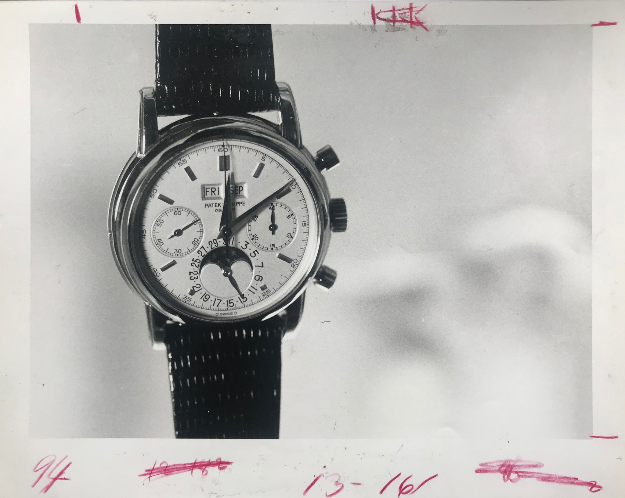 Patek Philippe ref. 2499 Fourth Series from 1985 from an original press photograph