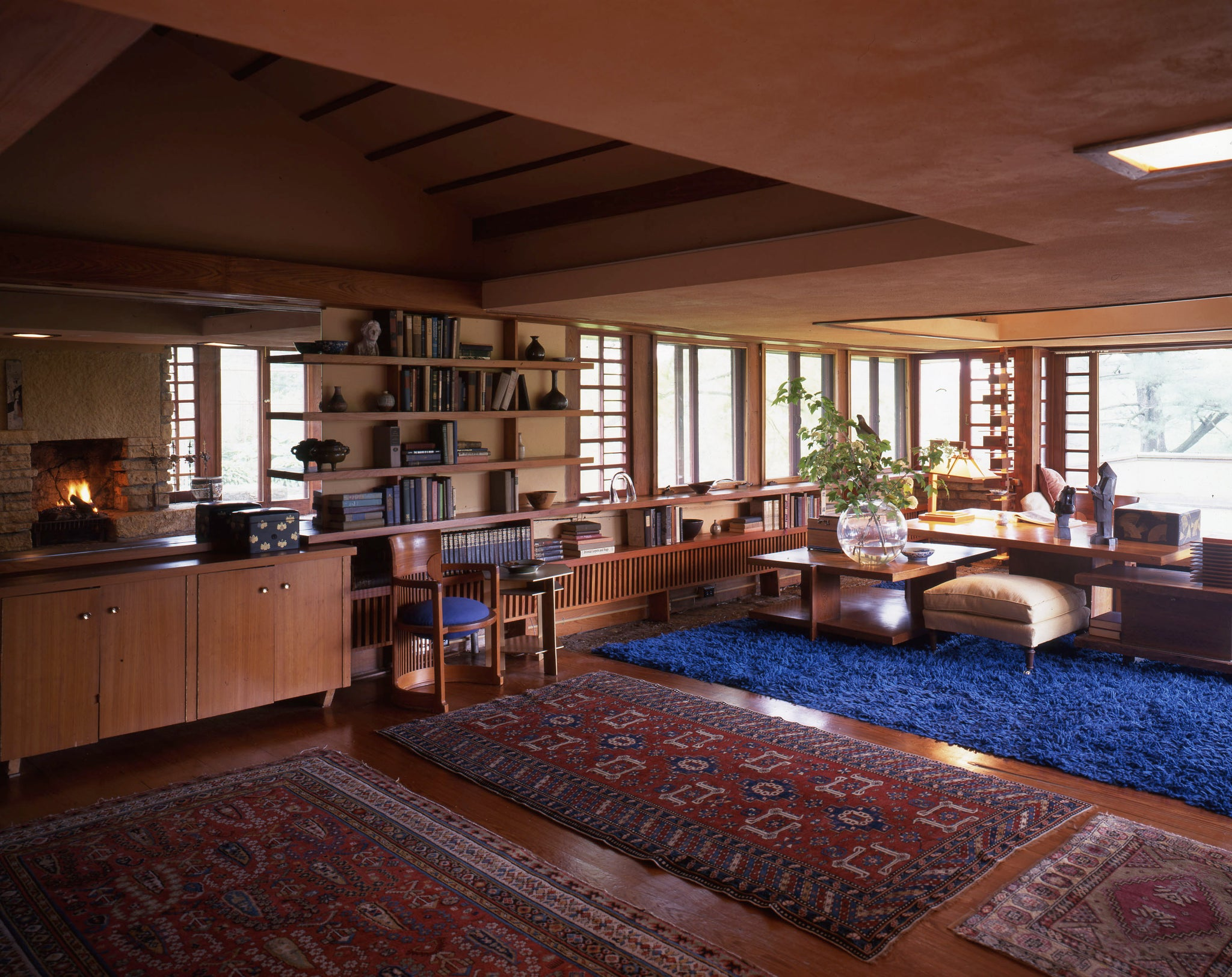 Frank Lloyd Wright's bedroom inside Taliesin West