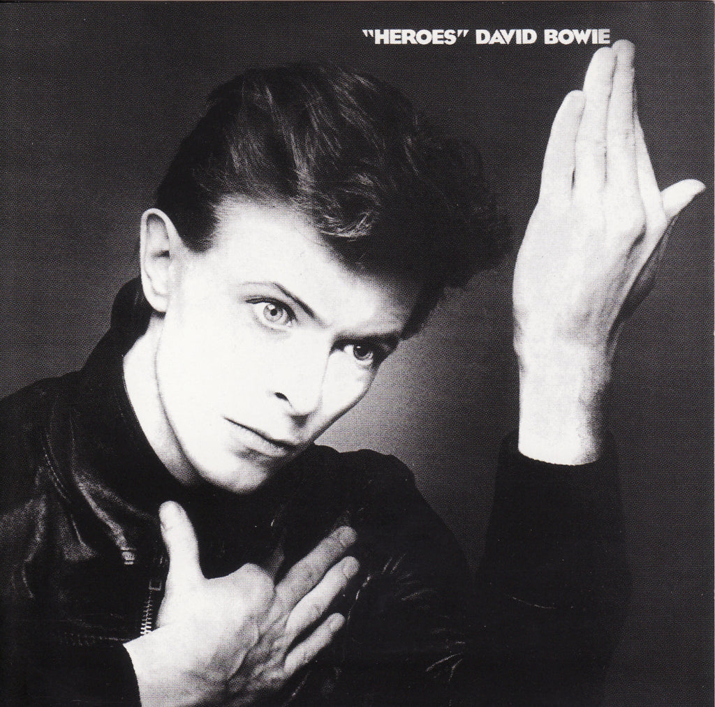 David Bowie Heroes album cover form 1977 in black and white for A Collected Man London