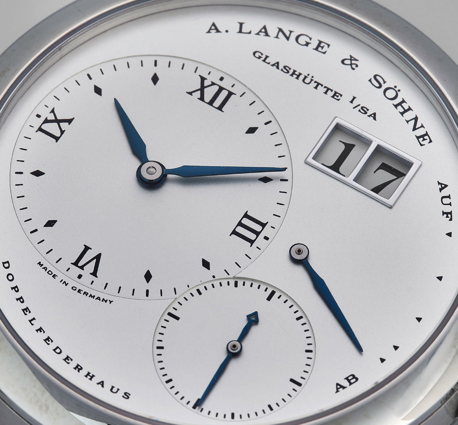 A. Lange & Söhne Lagne 1 in steel dial and power reserve for A Collected Man London