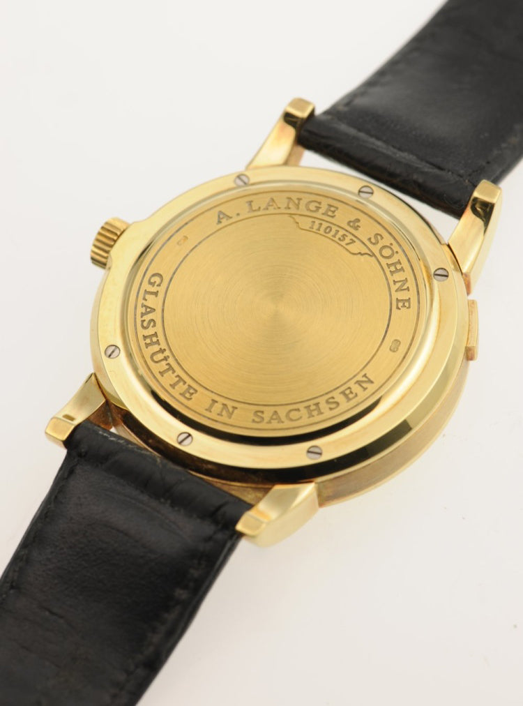 A. Lange & Söhne Lange 1 first edition in yellow gold closed caseback for A Collected Man London