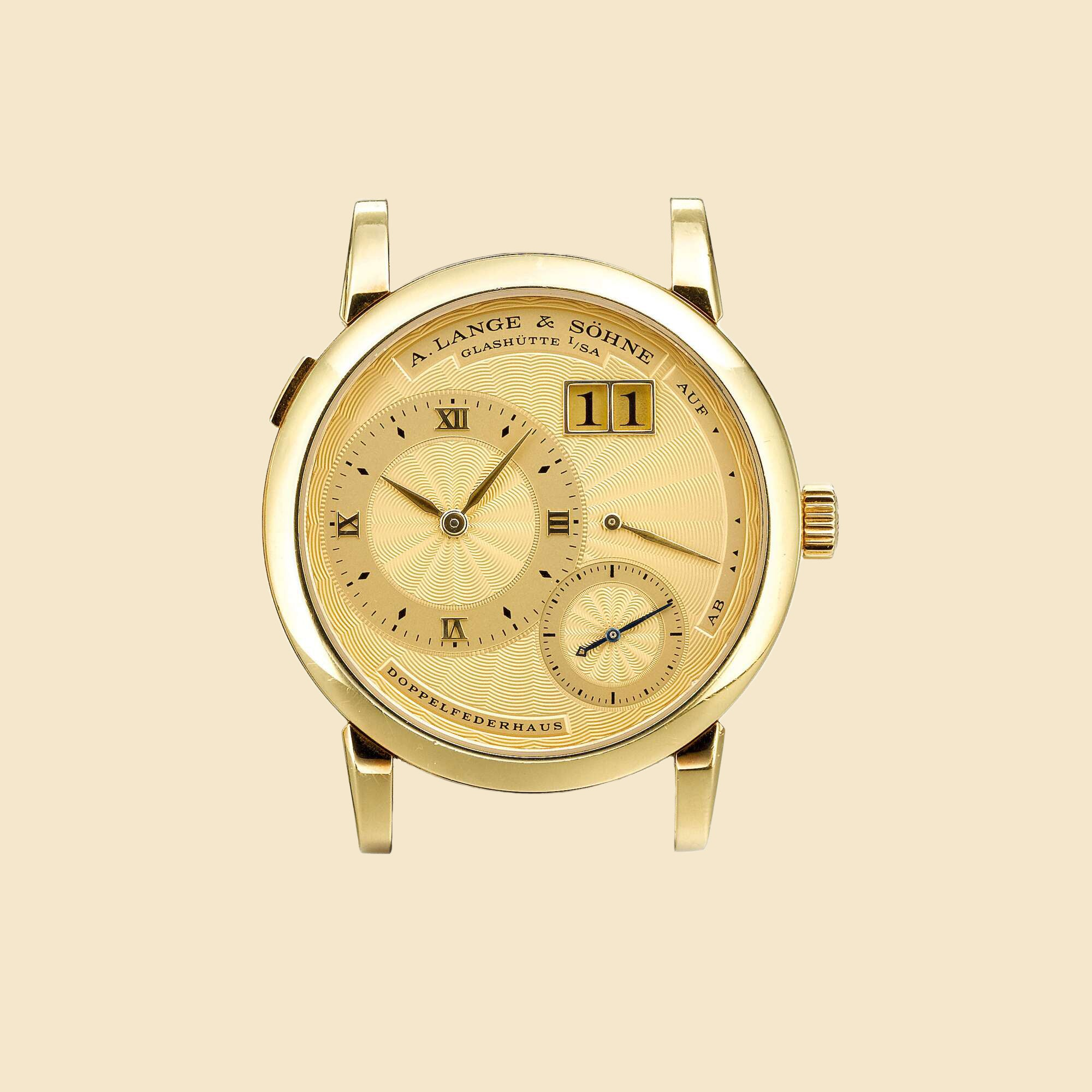 A. Lange & Söhne Lange 1A limited edition with gold engine turned dial for A Collected Man London
