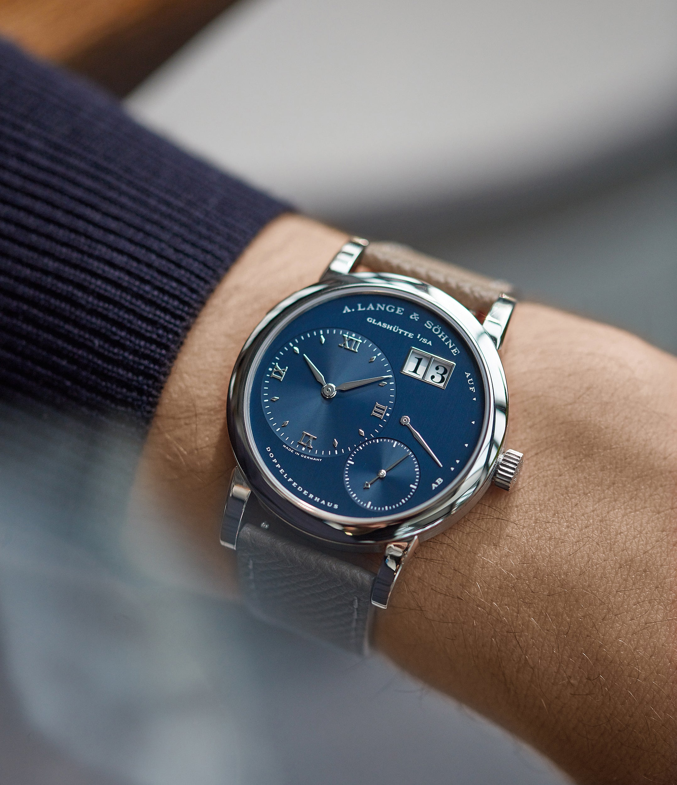 A. Lange & Söhne Lange 1 ref 101.027 blue dial for A Collected Man Londo