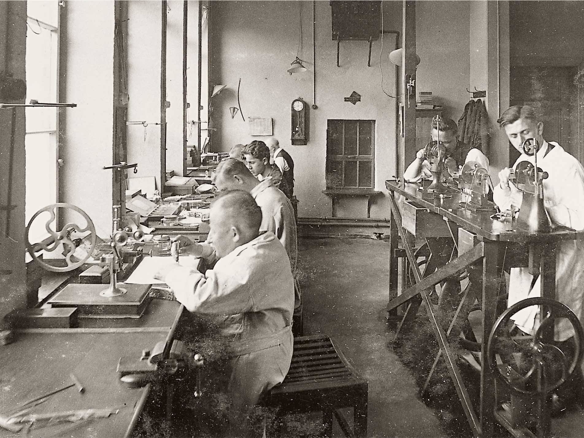 The A. Lange & Söhone workshop before the end of the second world war for A Collected Man Lonodn