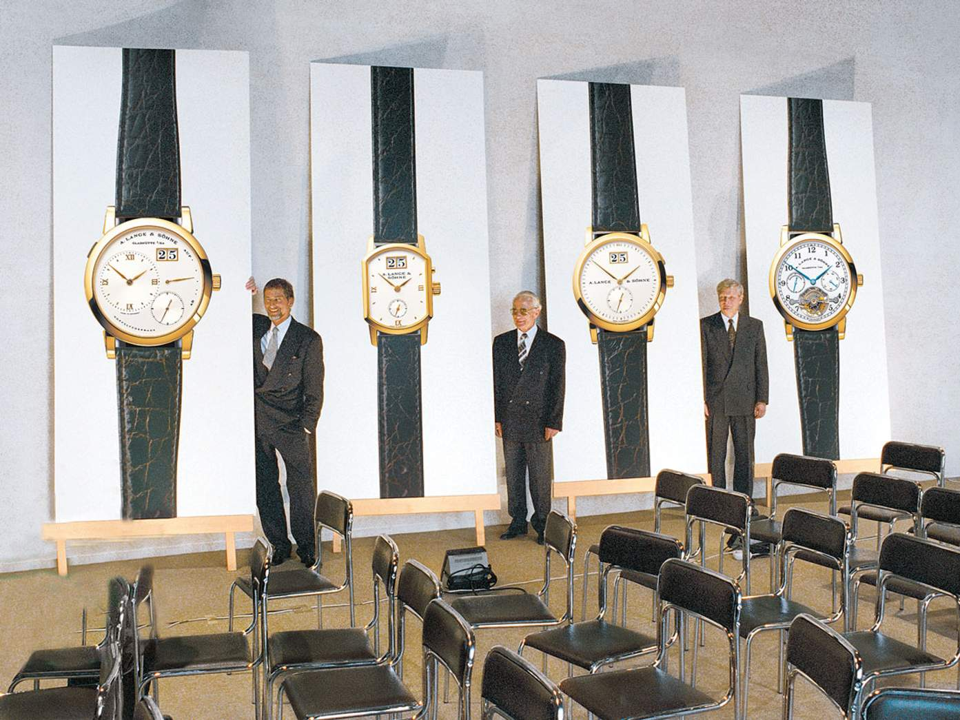 The press conference to relaunch A. Lange & Söhne in 1994 for A Collected Man London