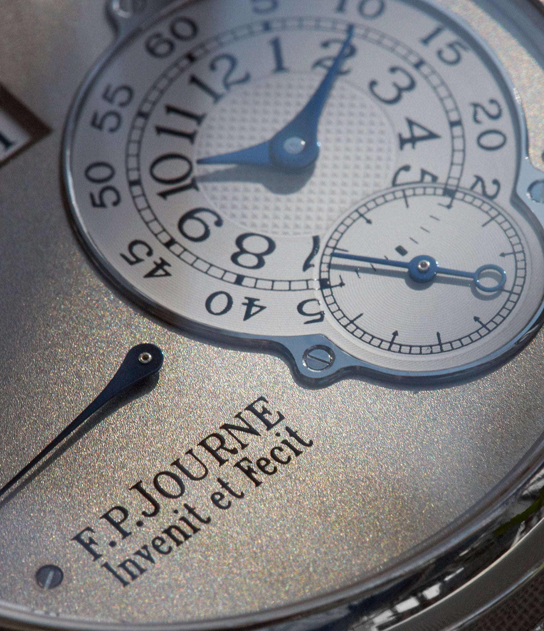 F.P. Journe Octa Reserve de Marche with a shimmery white gold dial