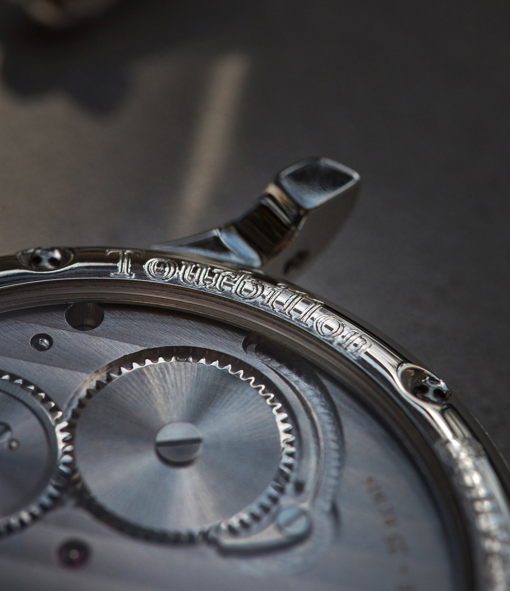 F.P. Journe Tourbillon Souverain showing shallow engraving shot by A Collected Man London
