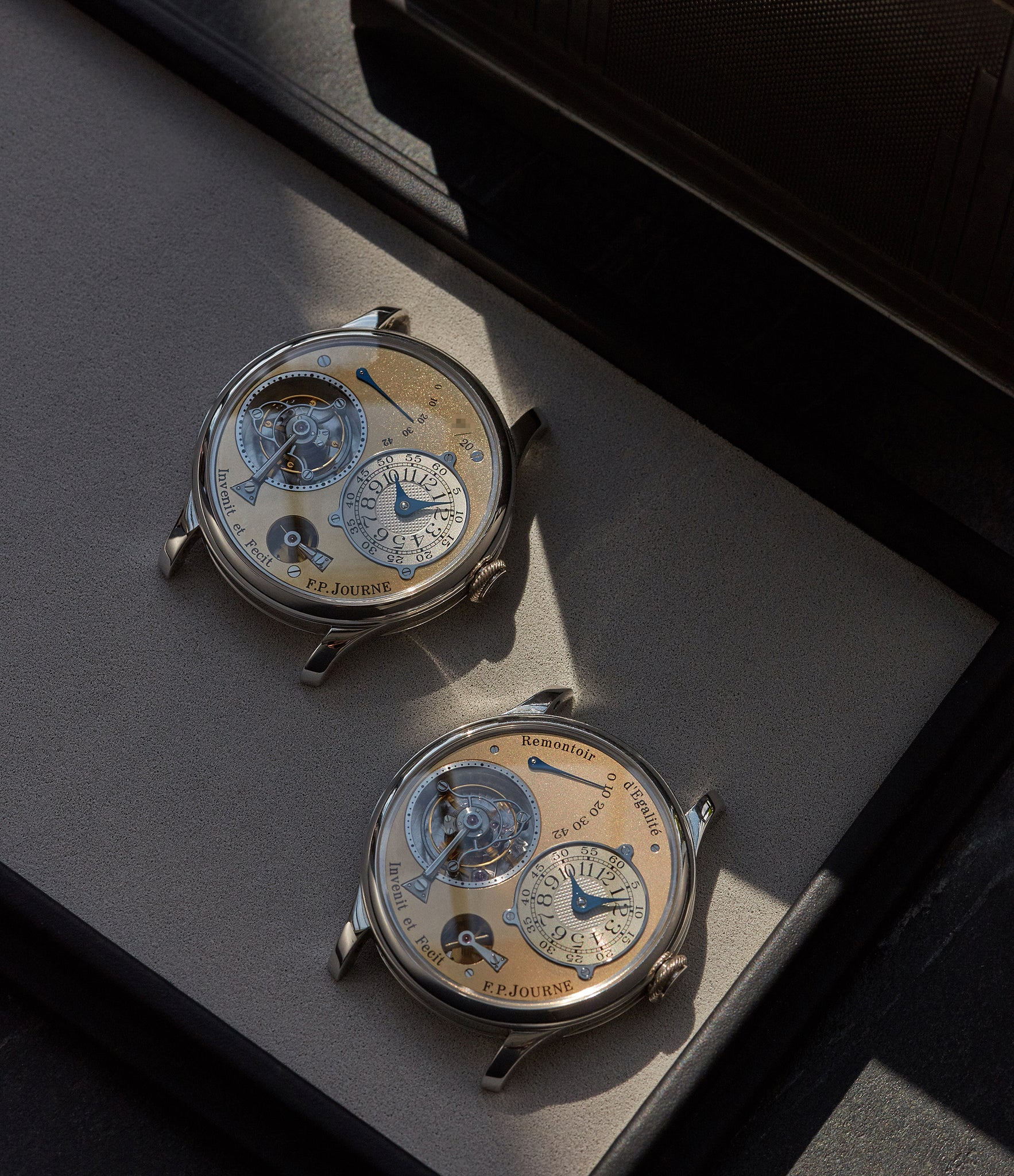 F.P. Journe Souscription Tourbillon next to a final generation shot by A Collected Man London