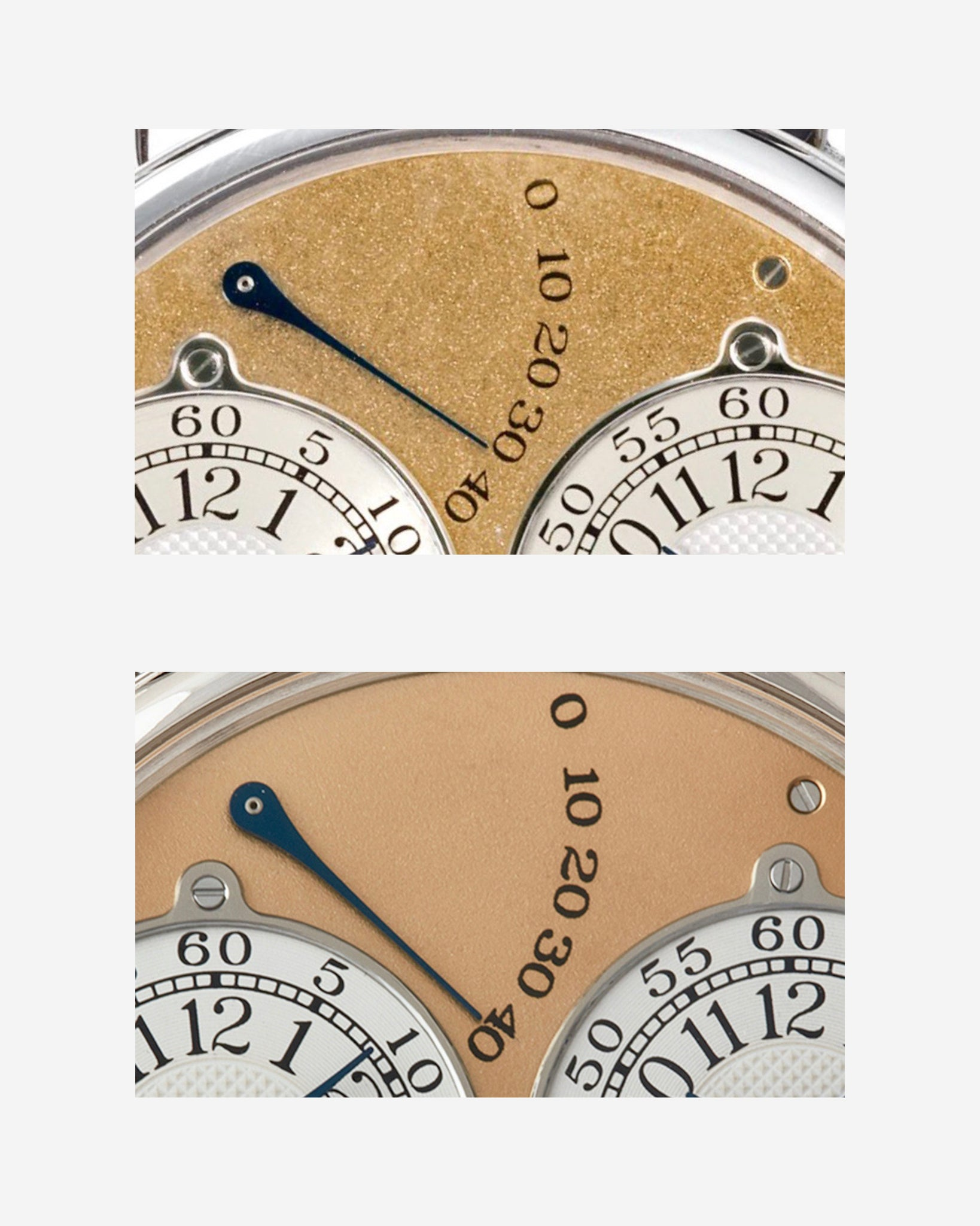 F.P. Journe Resonance power reserve styles comparing early to late