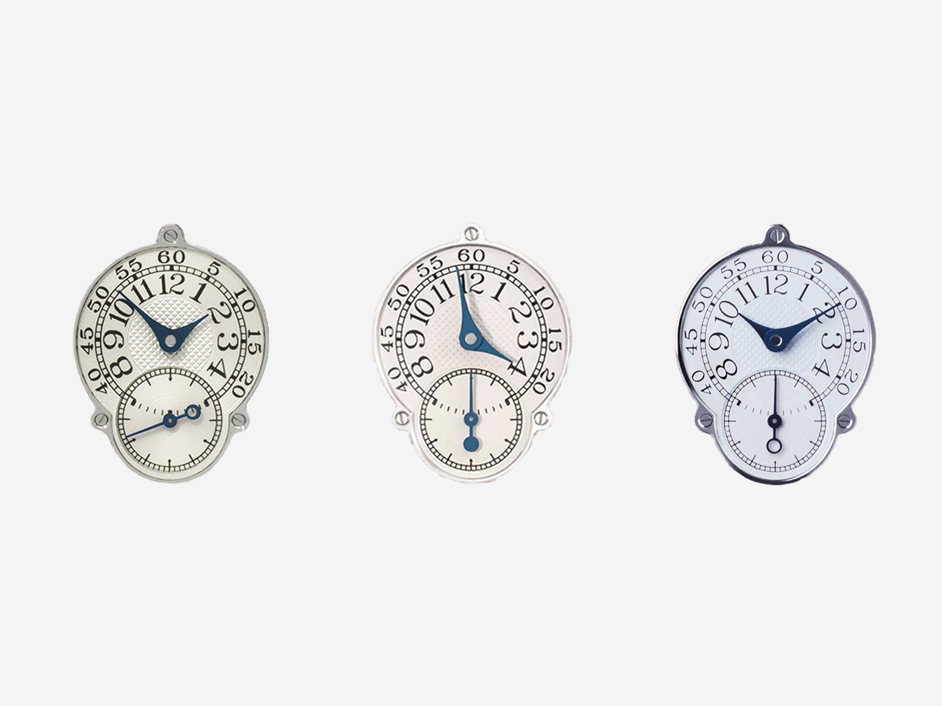 Three styles of F.P. Journe Resonance seconds hand