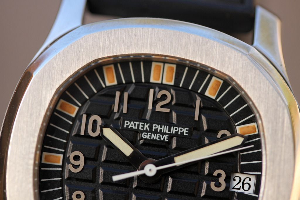 Patek Philippe 5060A Aquanaut in stainless steel macro dial shot for A Collected Man London