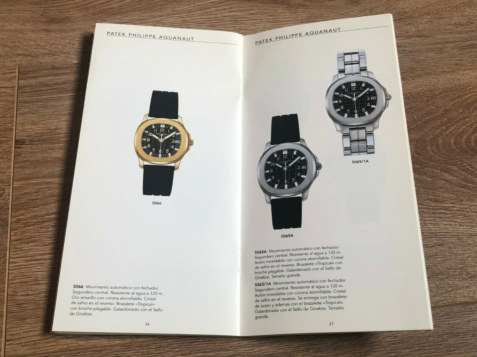 Patek Philippe Aquanaut appearing in a 1998 catalogue for A Collected Man London