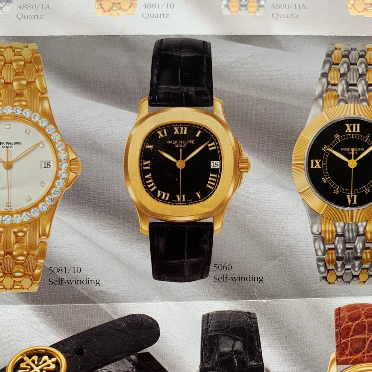 Patek Philippe 5060S appearing in a 1996 catalogue for A Collected Man London