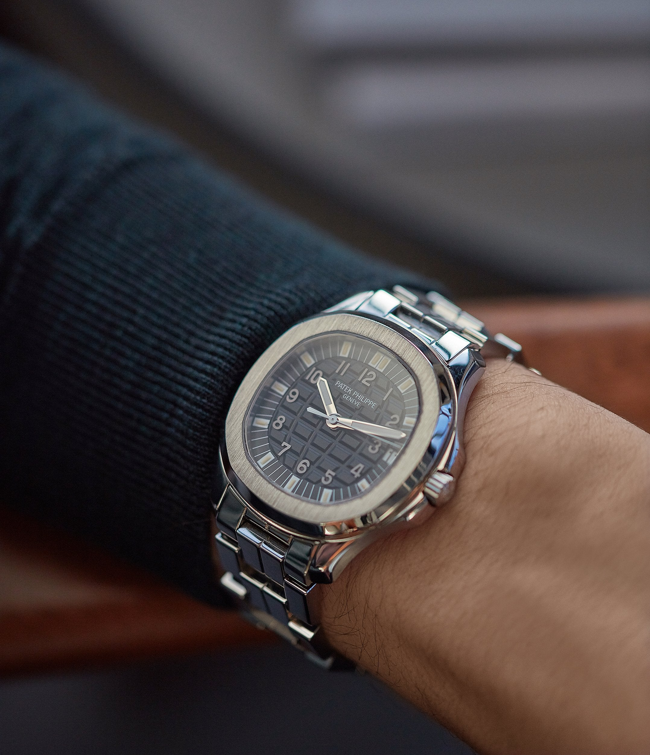 Patek Philippe Aquanaut in stainless steel with a bracelet for A Collected Man London