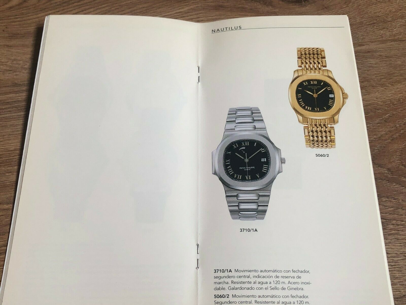 Patek Philippe 5060S on a Milanese bracelet in a 1998 catalogue for A Collected Man London