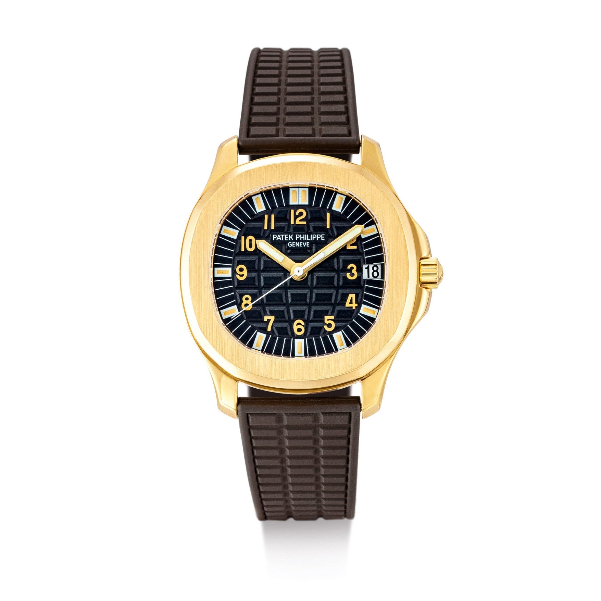 Patek Philippe 5065 Aquanaut in yellow gold on a rubber strap for A Collected Man London