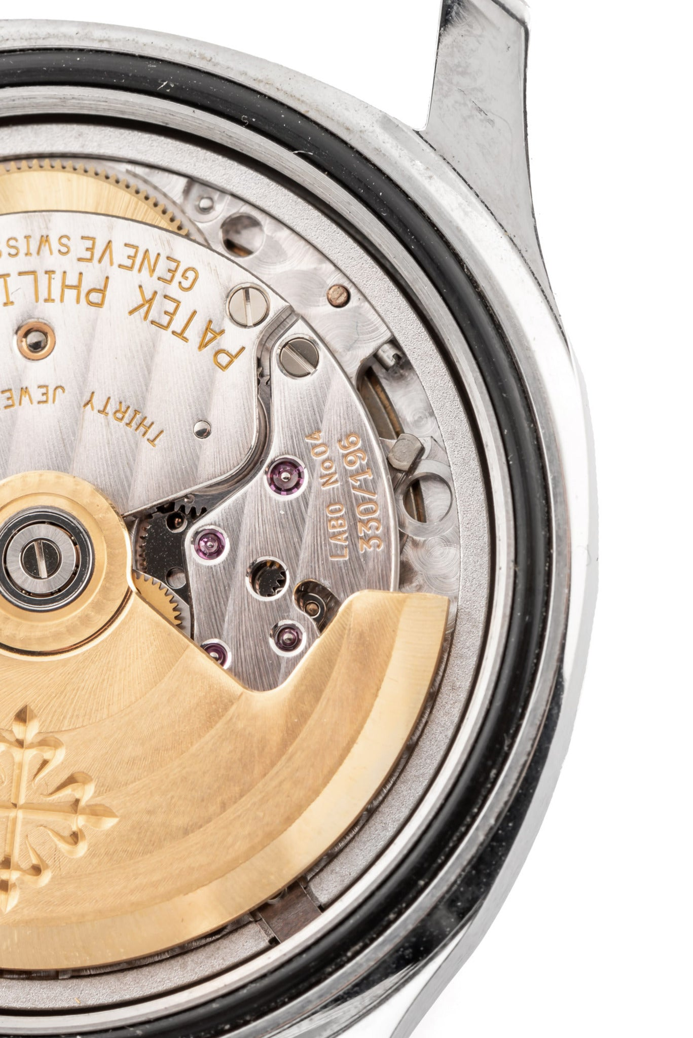 Patek Philippe Aquanaut prototype close up on the movement for A Collected Man London