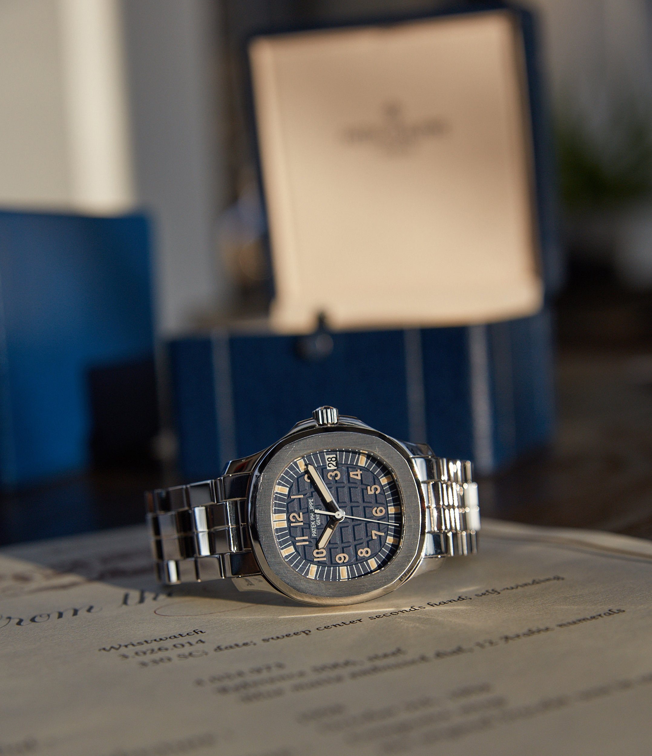 Patek Philippe Aquanaut Japan special edition with a blue dial for A Collected Man London