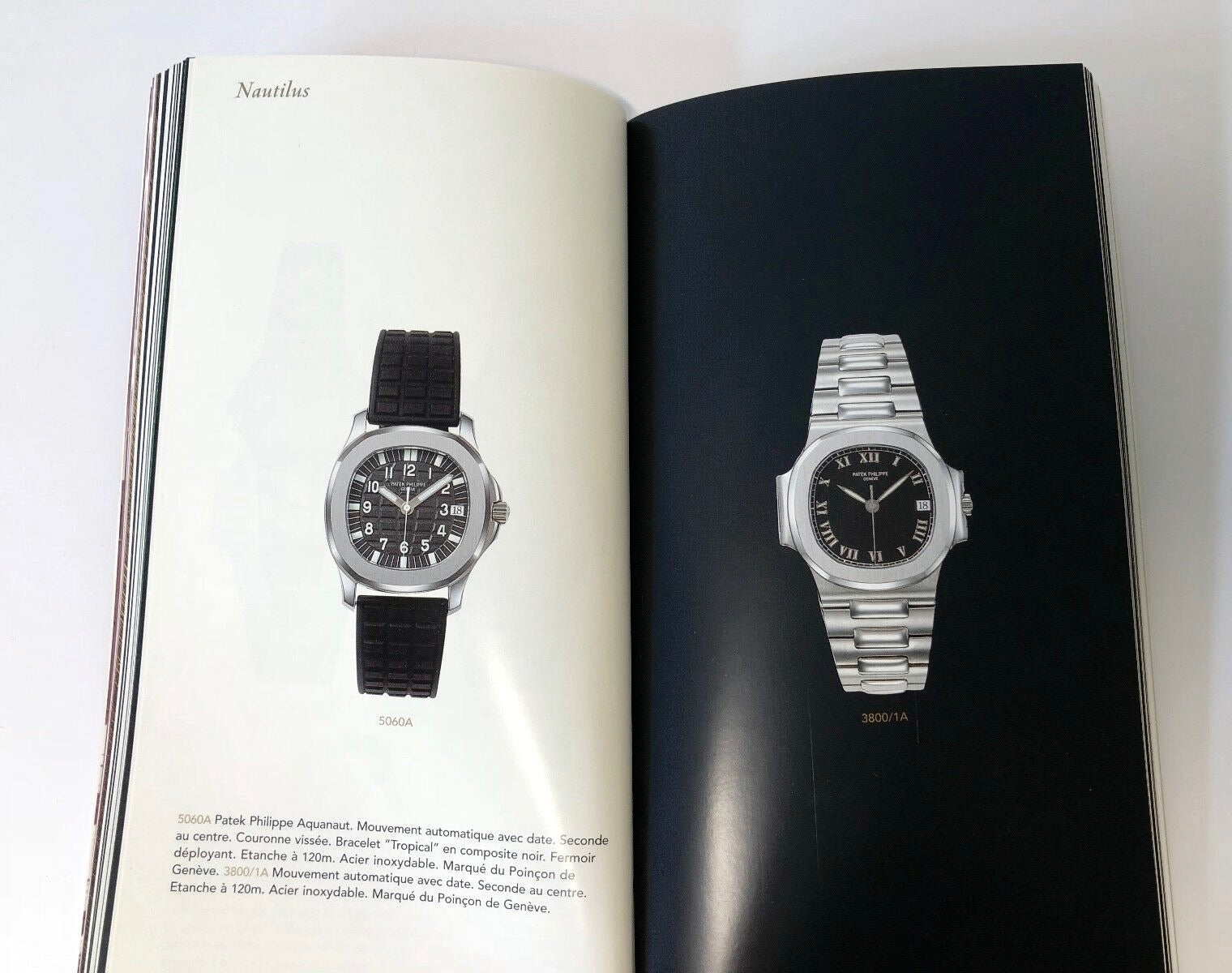 Patek Philippe 5060 Aquanaut in a 1997 catalogue listed under Nautilus for A Collected Man London