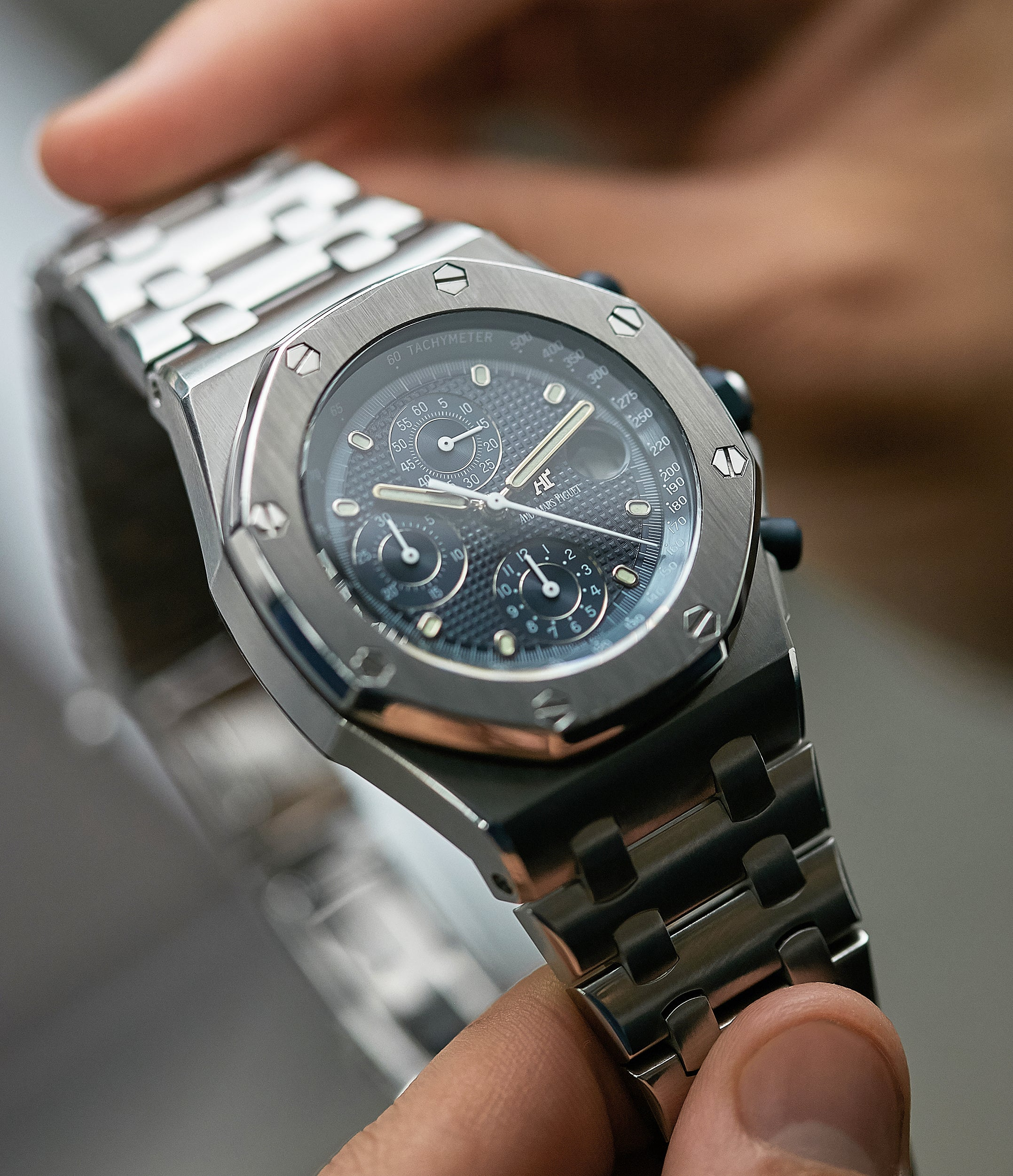 An Audemars Piguet Royal Oak Offshore 'The Beast' chronograph steel sports watch for A Collected Man London