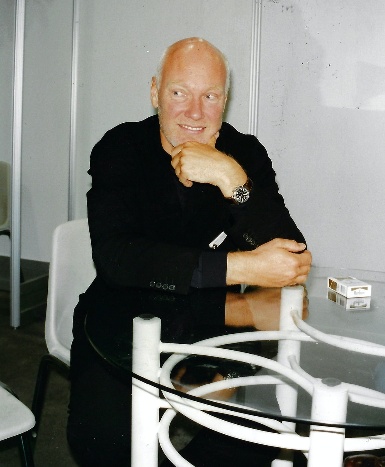 Jean-Claude Biver in the 1990s wearing a Blancpain wristwatch for A Collected Man London