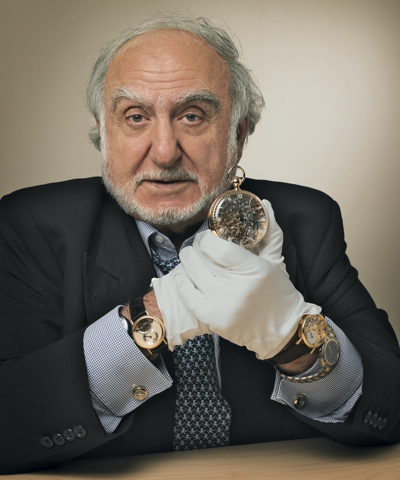 Nicoloas Hayek the CEO and Chairman of the Swatch Group for A Collected Man London